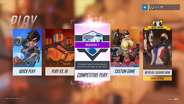 Matchmaking rating overwatch