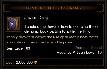 Diablo  How To Craft Hellfire Ring Of Intelligence
