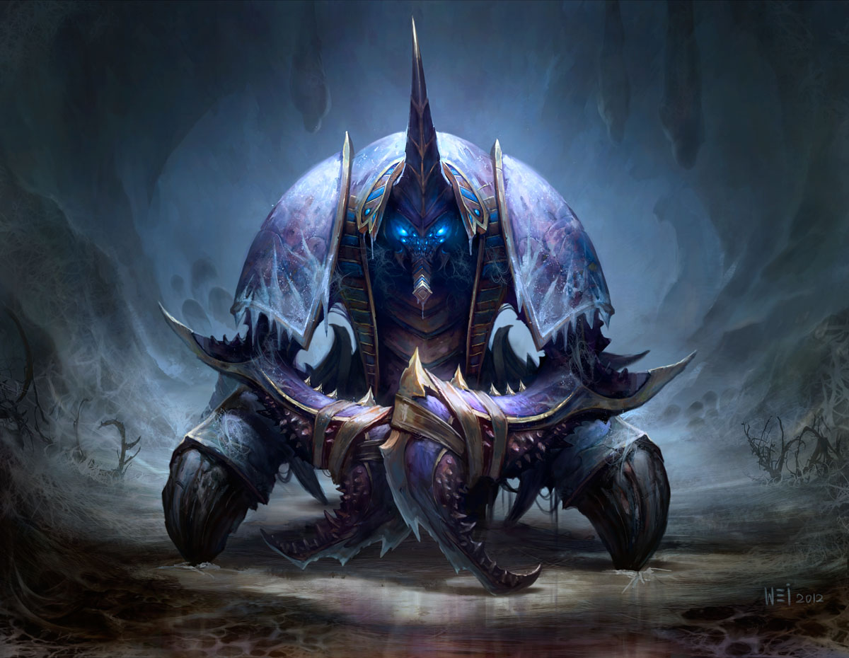 Artistic depiction of Anub'arak by Wei Wang