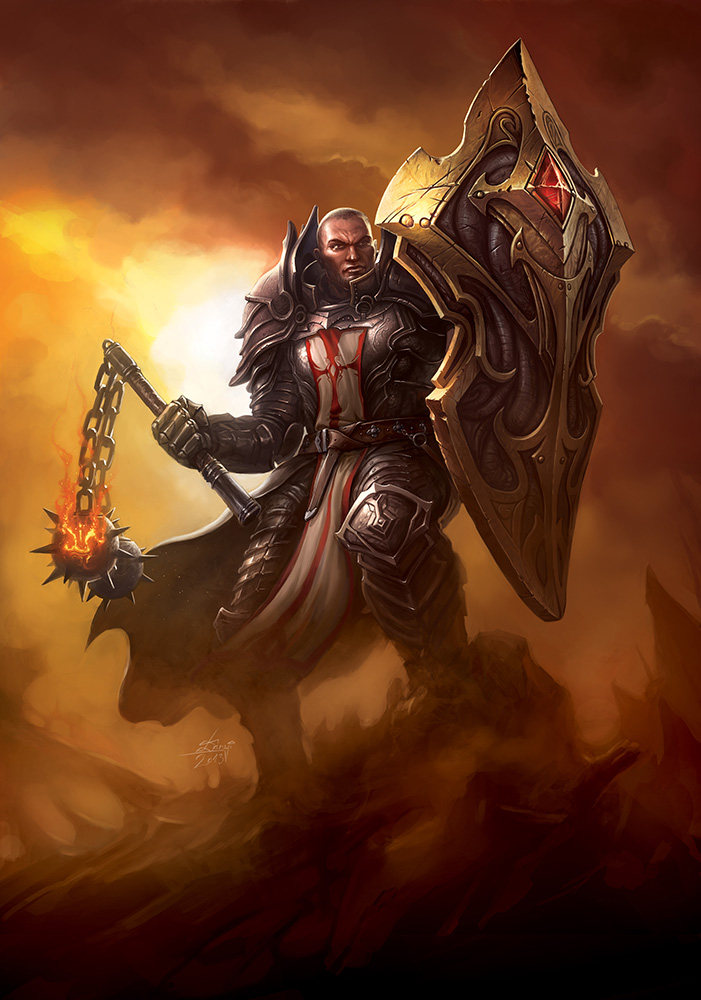new crusader fan art diablo iii
