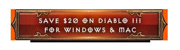 Diablo III and Reaper of Souls for $19.99 Each!