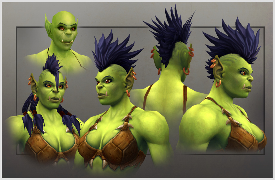 orc female model character revamp