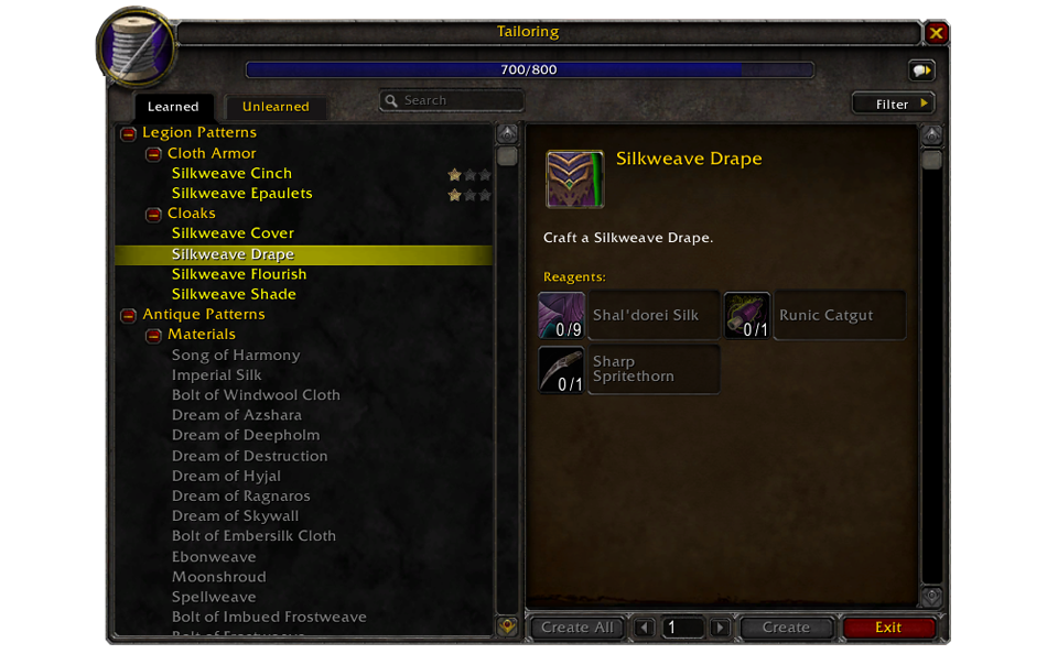 Preview Professions In Legion