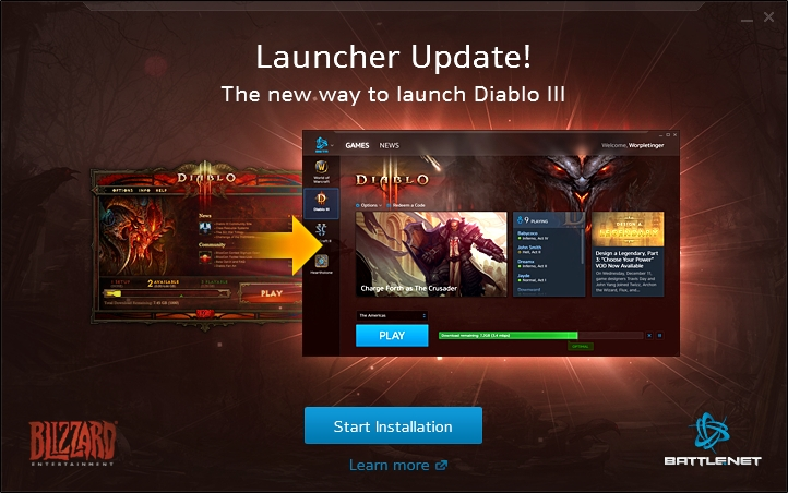 Diablo 3 blizzard launcher not updating