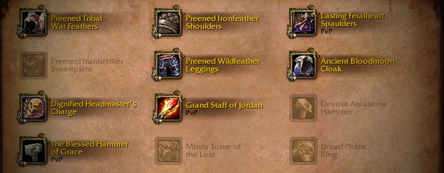 Heirloom Storage in the Warlords of Draenor