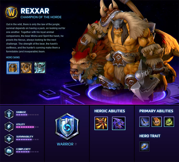 Rexxar Hero Week Heroes Of The Storm Blizzard News Welcome to the weekly hero discussion where we feature a rotating hero discussion every week. rexxar hero week heroes of the storm