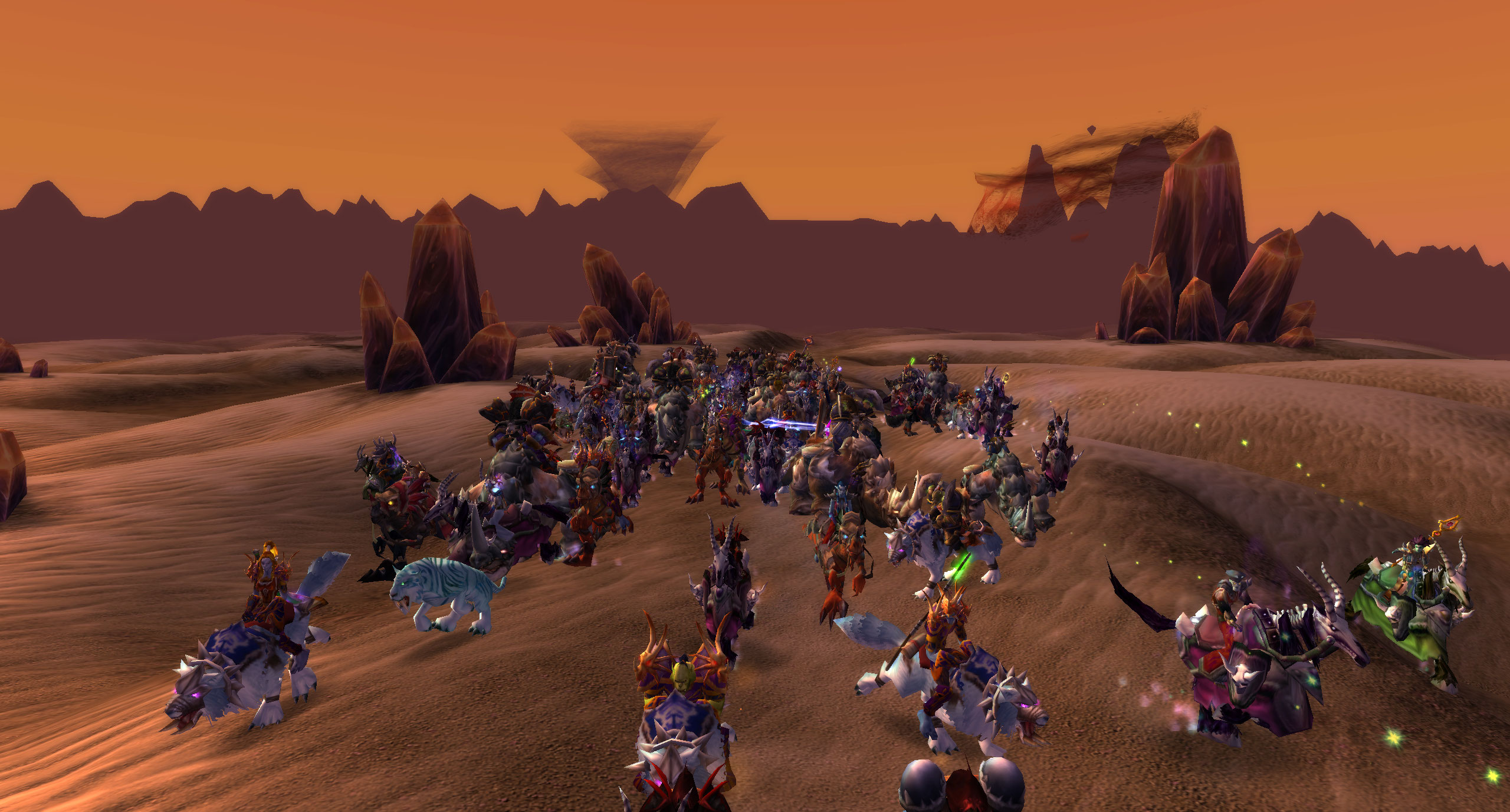 Horde Players in Silithus