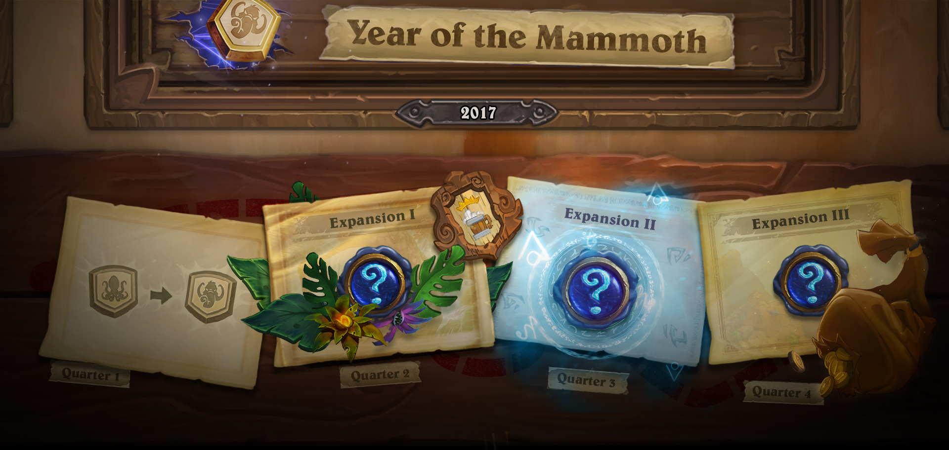 "2017 ""Year of the Mammoth"" Release Timeline"