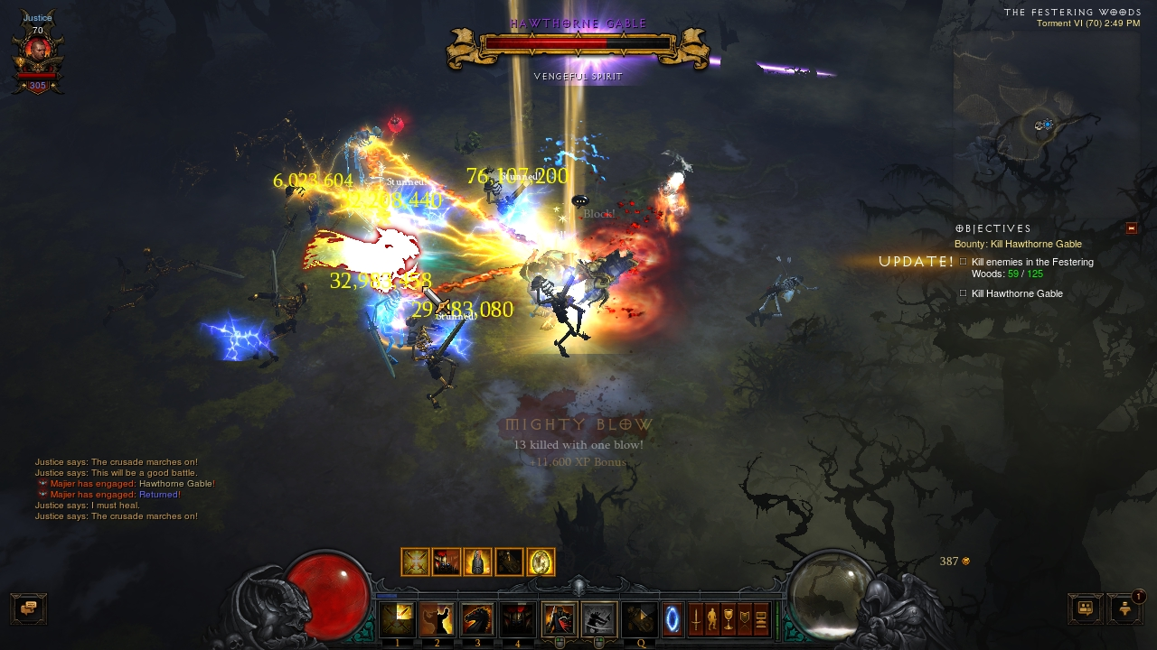 Majiers Sweeping Thunder Crusader Diablo Iii Imo S67 Sweepin Up The Trash What I Did There Do You See It