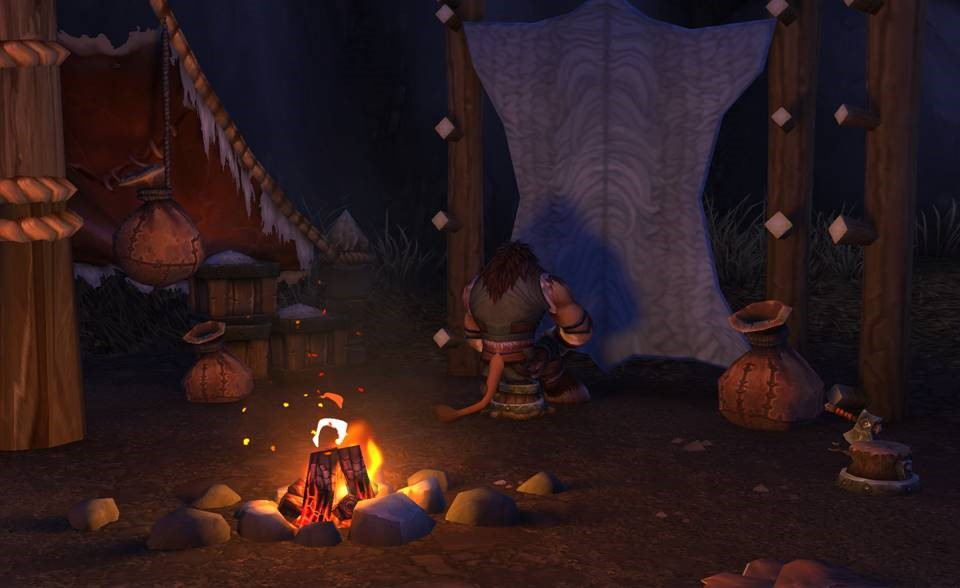 Campfire scene with ray tracing enabled