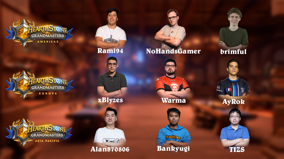 The nine newest Hearthstone Grandmasters.