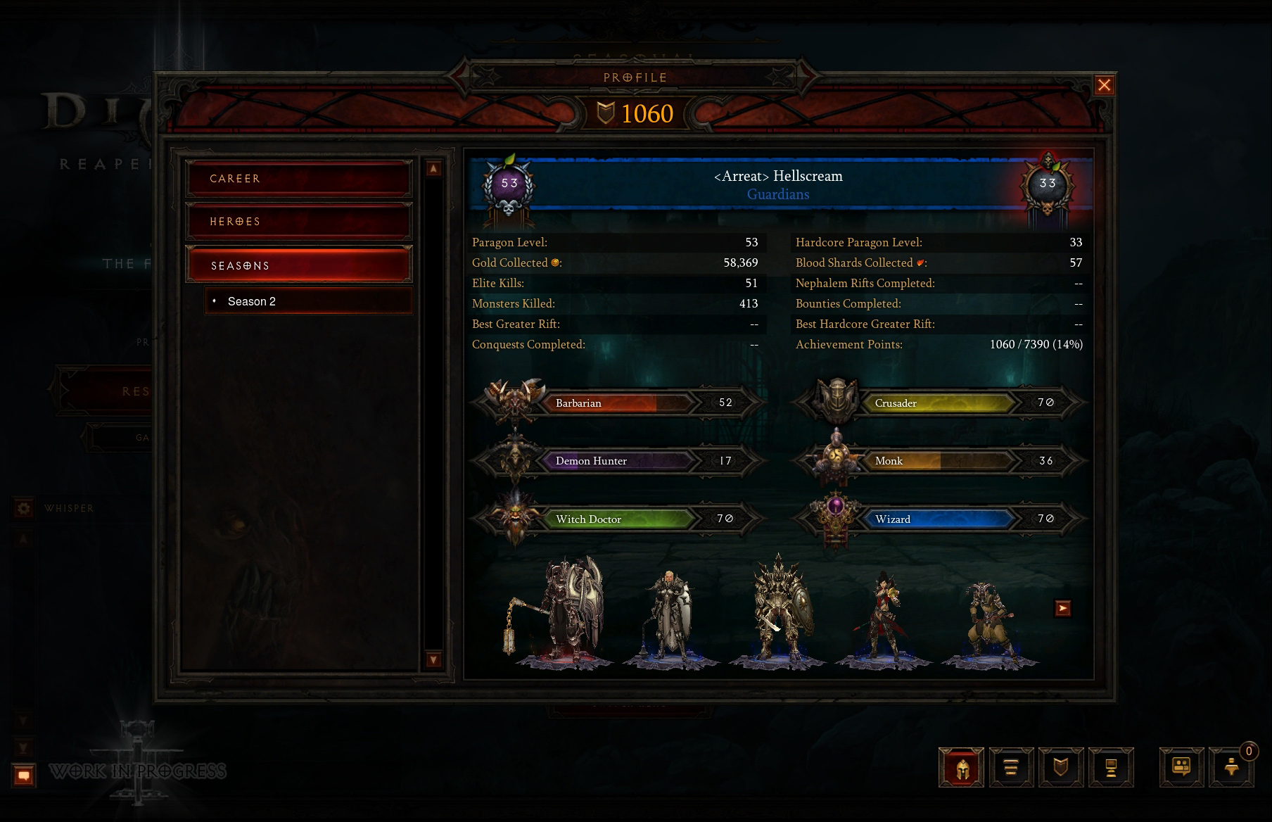 More Info on Diablo III Character Profiles - Diablo 3