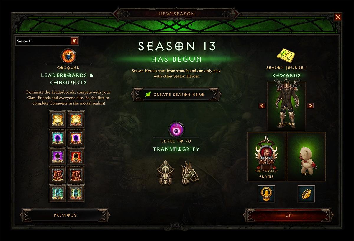 Season 13 Now Live — Diablo III — Blizzard News