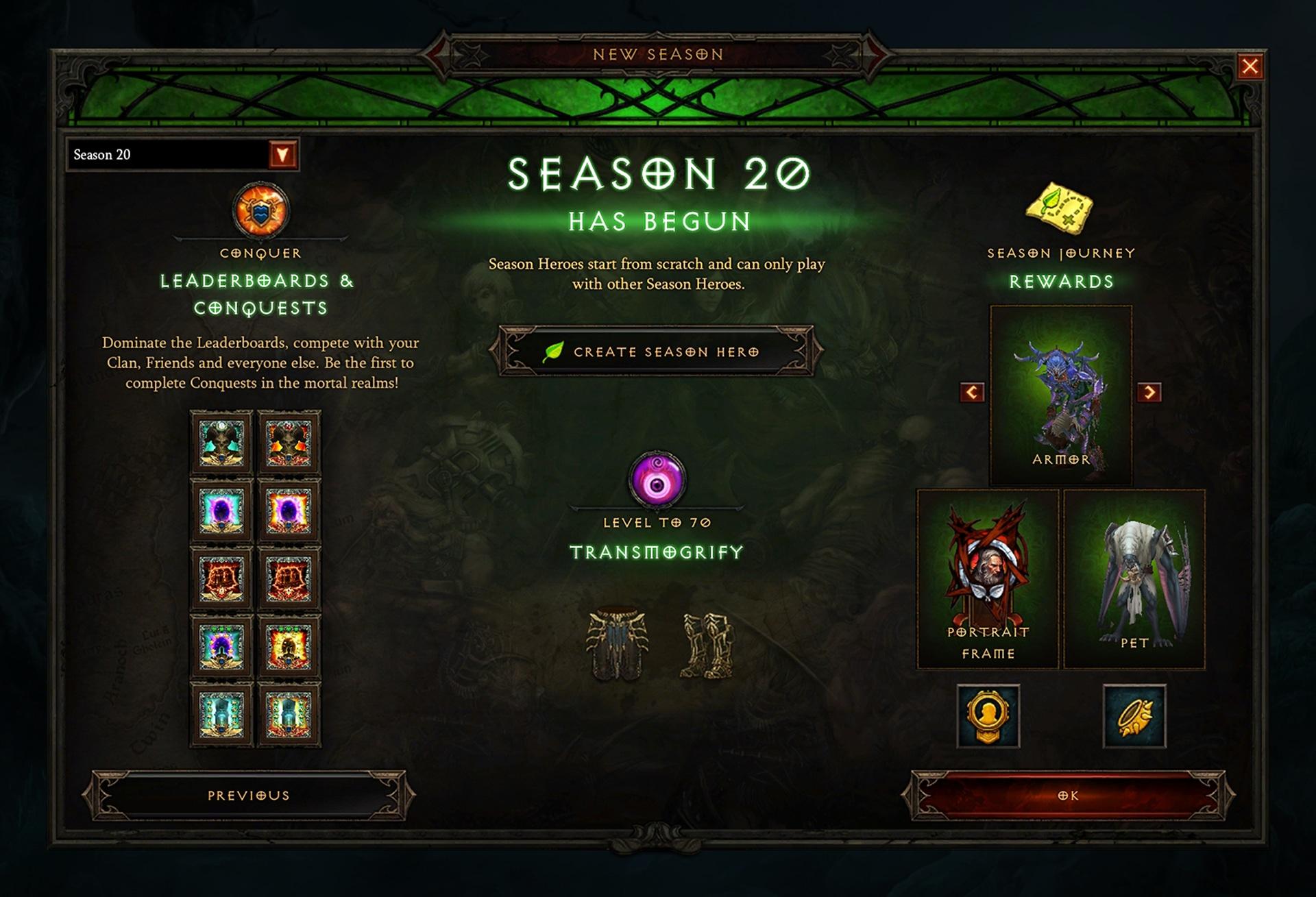20 сезон Diablo III «Сезон запретных архивов»
