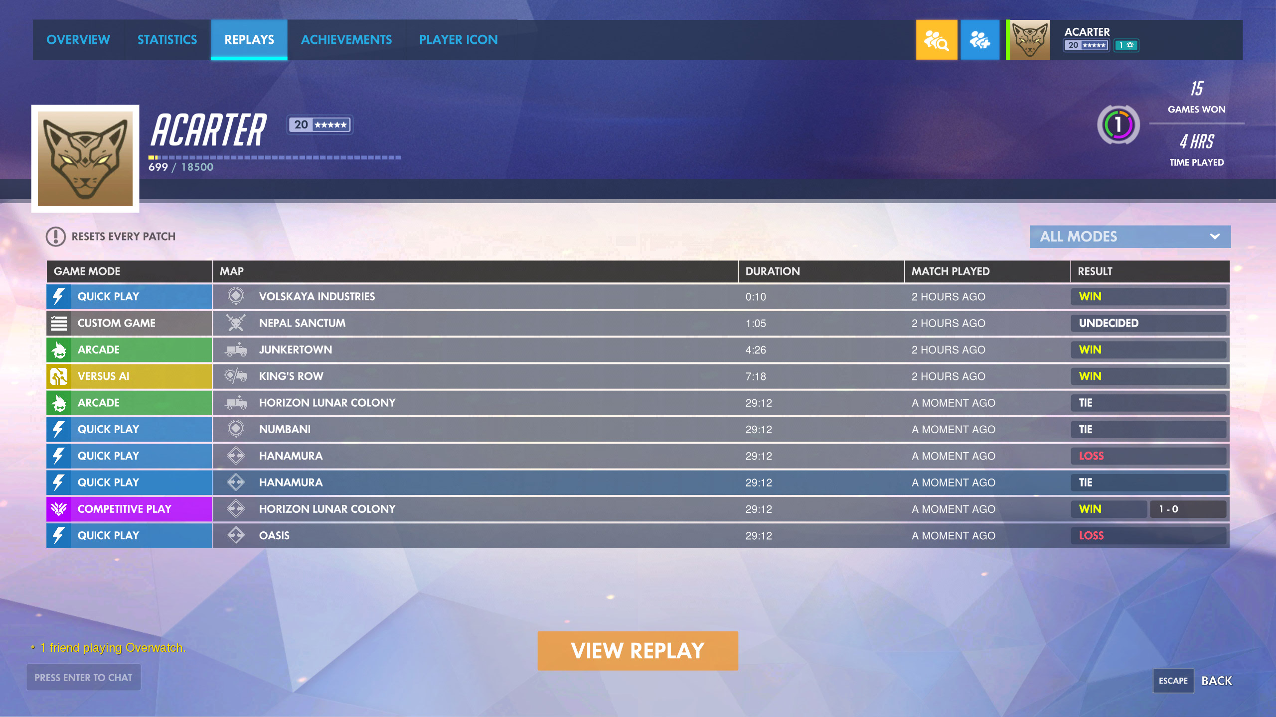 Introducing Overwatch Replays: See Your Past Games From New