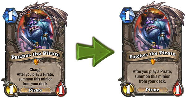 Patches the Pirate Hearthstone Balance Change 10.2