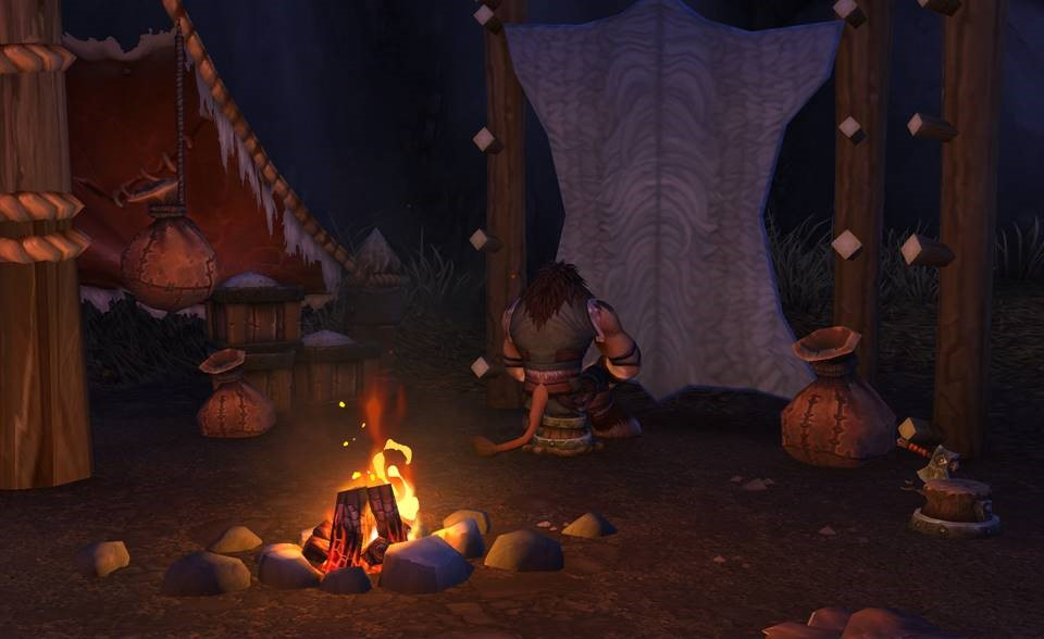 Campfire scene without ray tracing