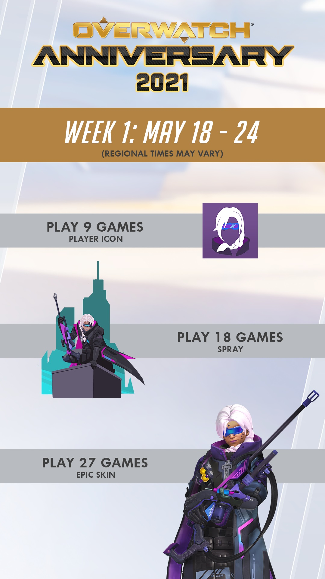 Overwatch Anniversary 2021 - Week 1 Rewards
