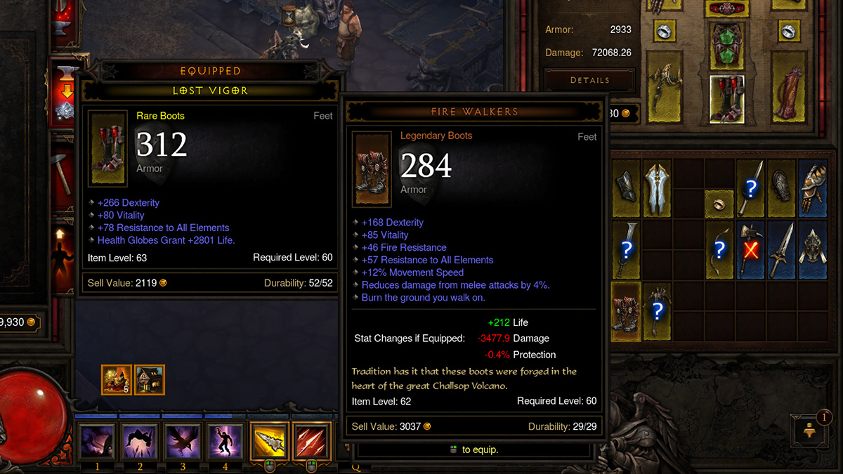 Diablo Then Now Item Comparison Evolution Diablo Iii