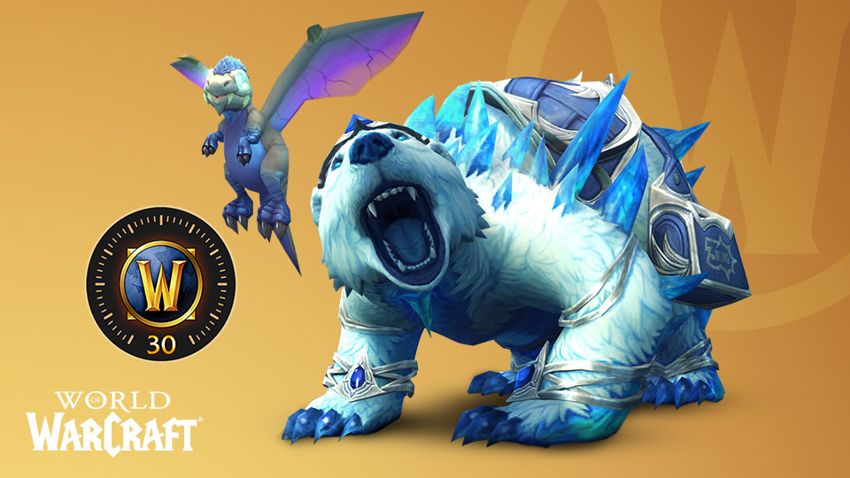 World of Warcraft items from the Celebration Collection
