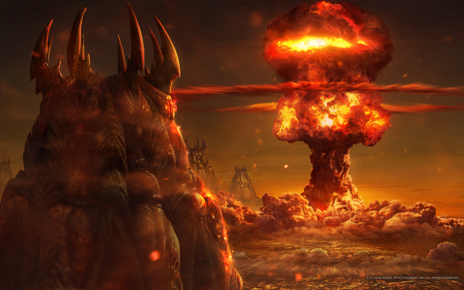 Nukes falling on the Zerg