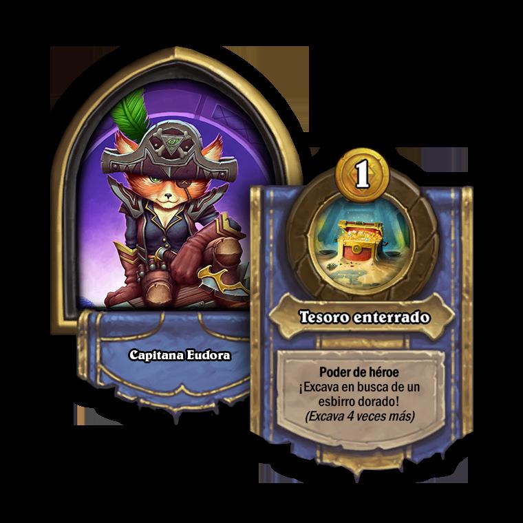 Capitana Eudora. Poder de héroe: ¡Excava en busca de un esbirro dorado! (Excava 4 veces más)