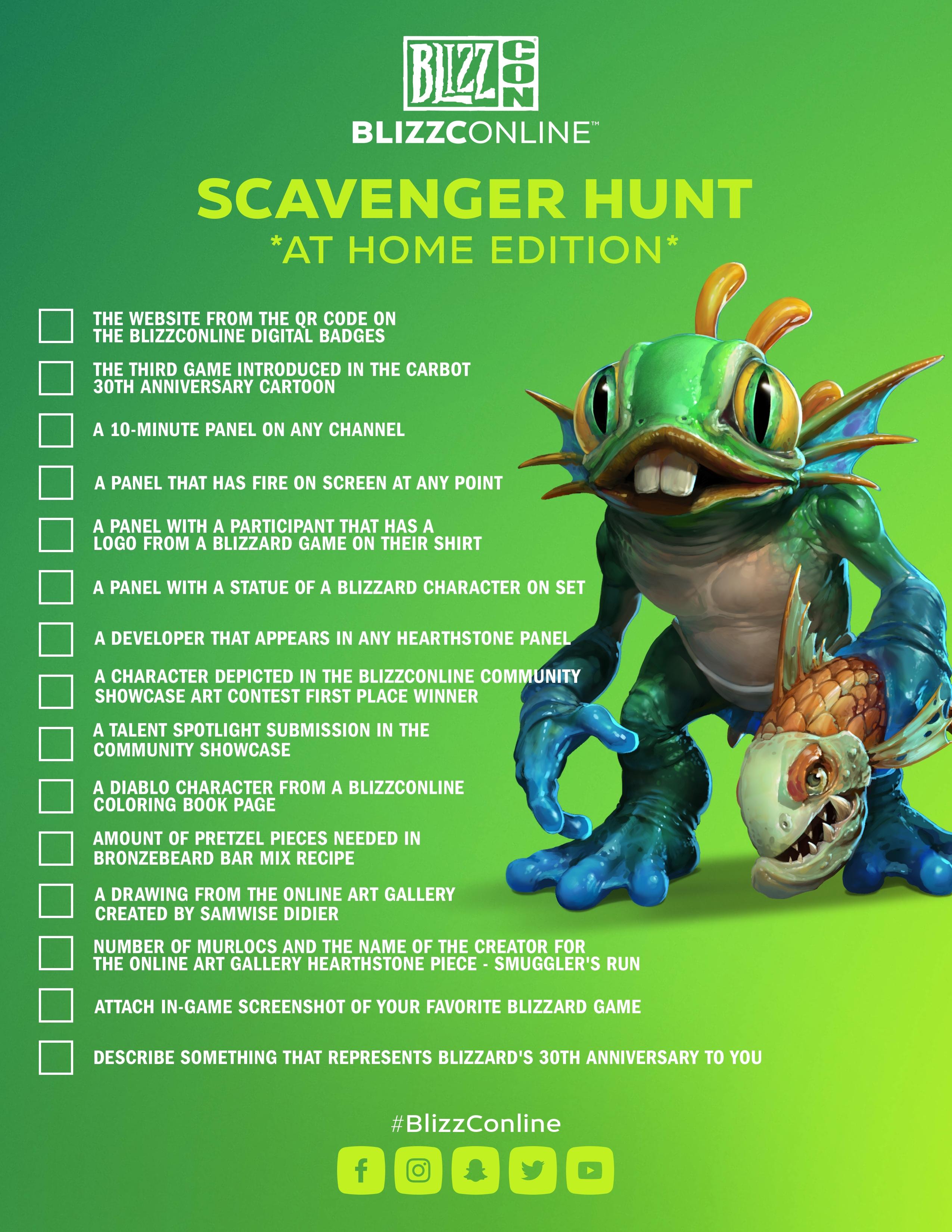 Murky Scavenger Hunt