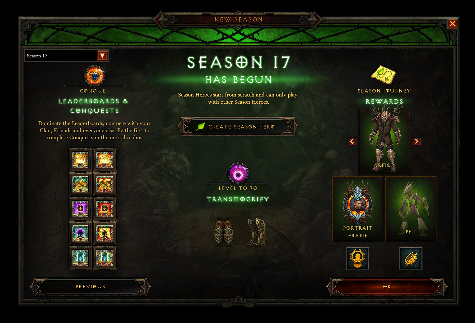 Season 17: The Season of Nightmares is Now Live — Diablo III