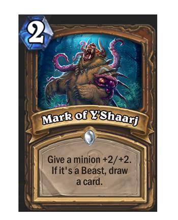 Mark of Y'Shaarj - 2 mana - Druid - Spell