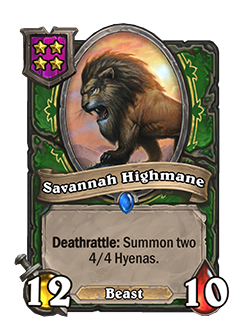 Savannah Highmane