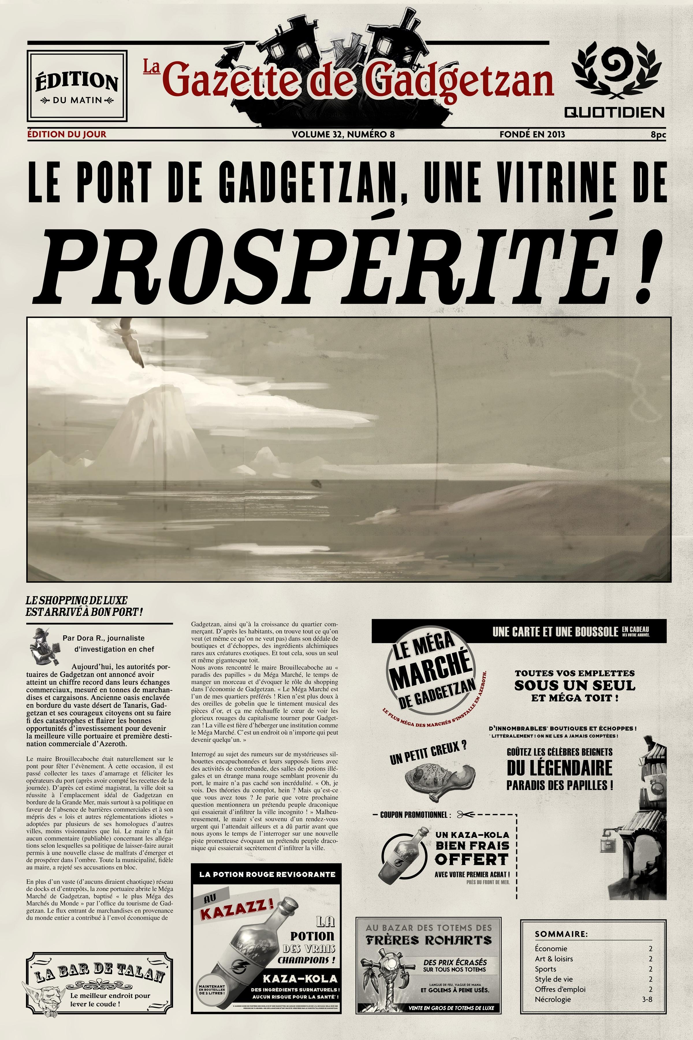 Gadgetzan Port Promotes PROSPERITY!