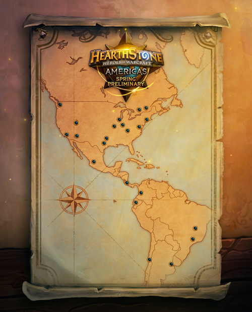 Hearthstone Championship Tour Americas Spring Preliminary Event Locations