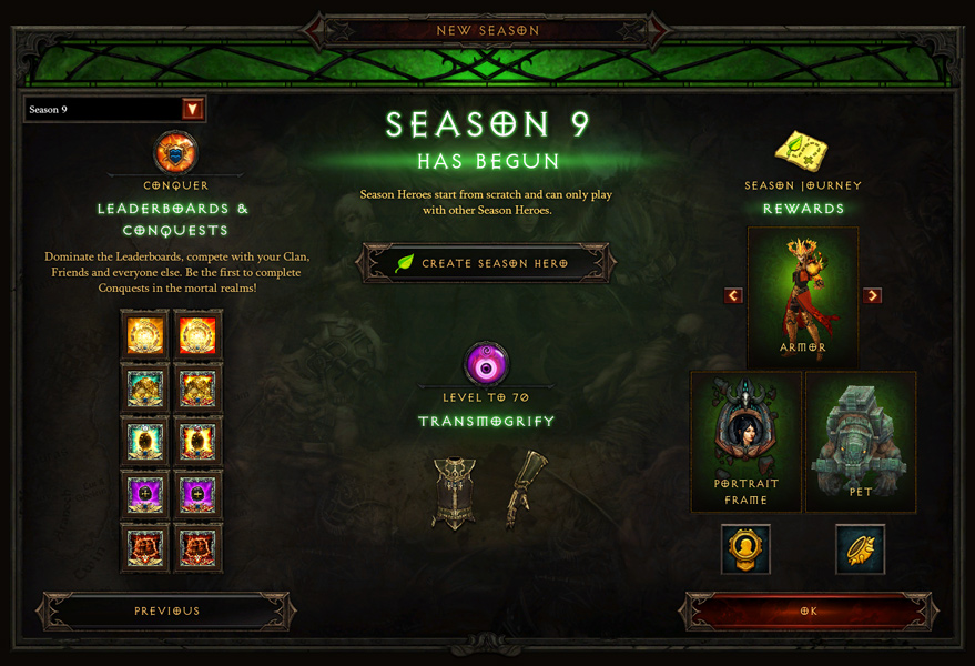 Season 9 Now Live - Diablo III