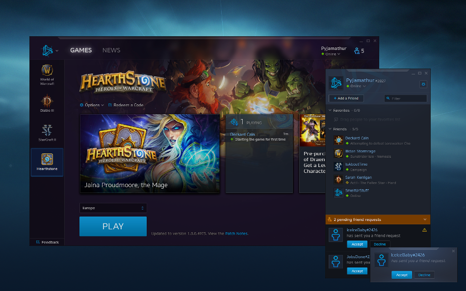 Chat with Friends in the Battle net Desktop App