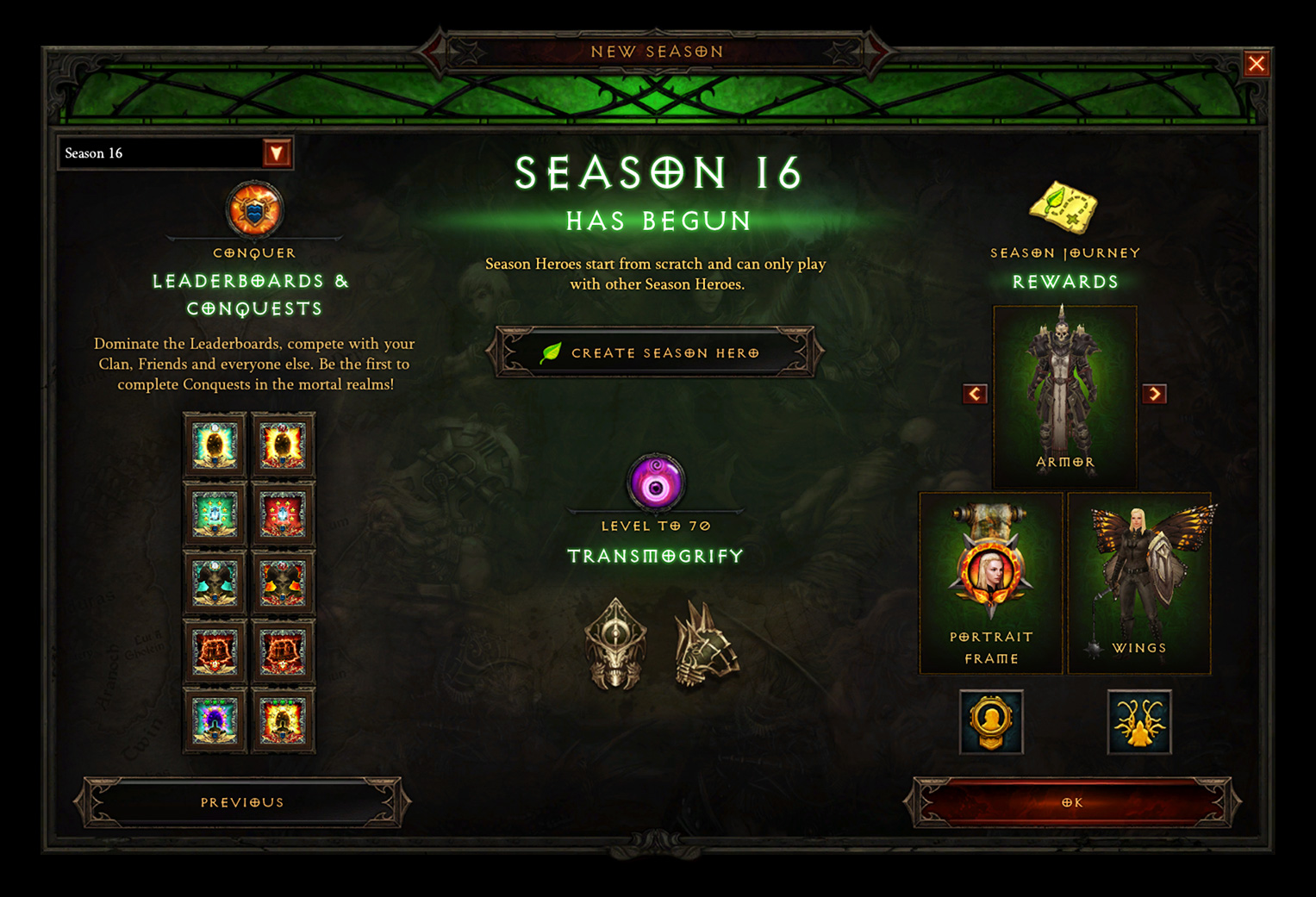 Season 16: The Season of Grandeur Now Live! - Diablo III