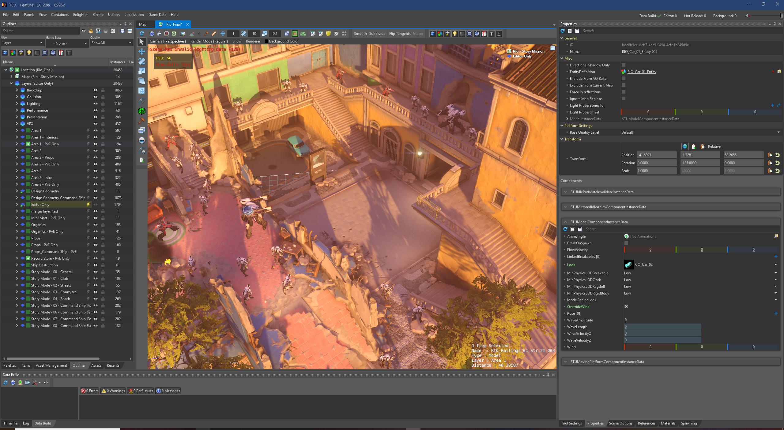 TED, the Overwatch Editor, was used to add dynamic lighting to the Rio map for BlizzCon 2019