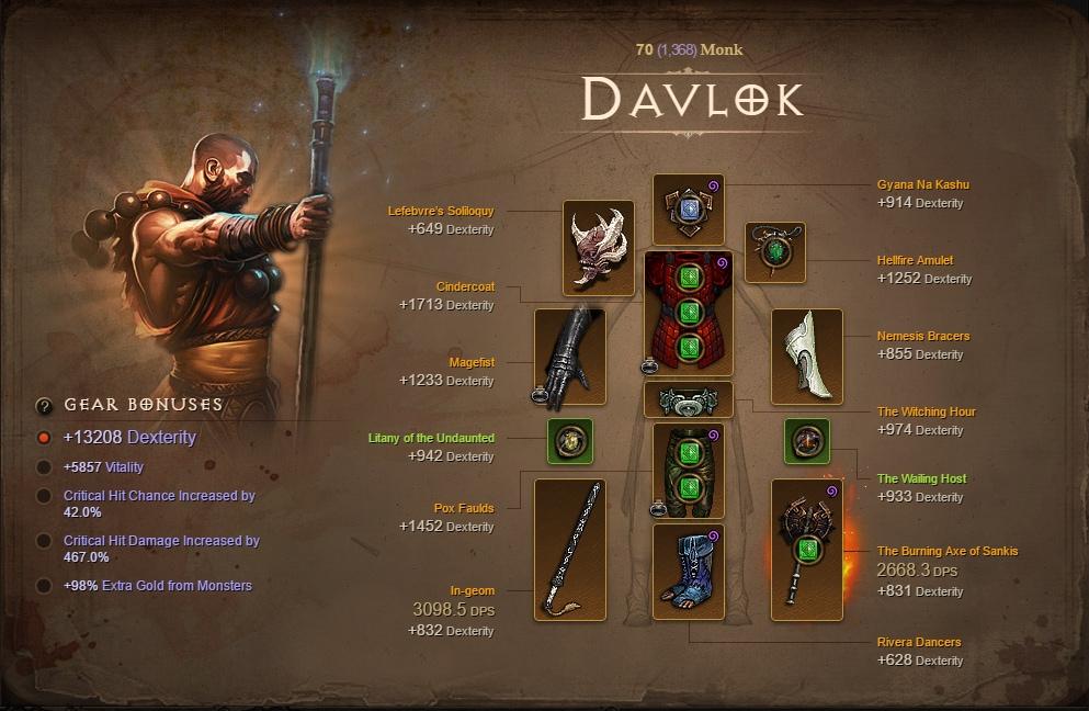 Diablo  Lashing Tail Kick Build