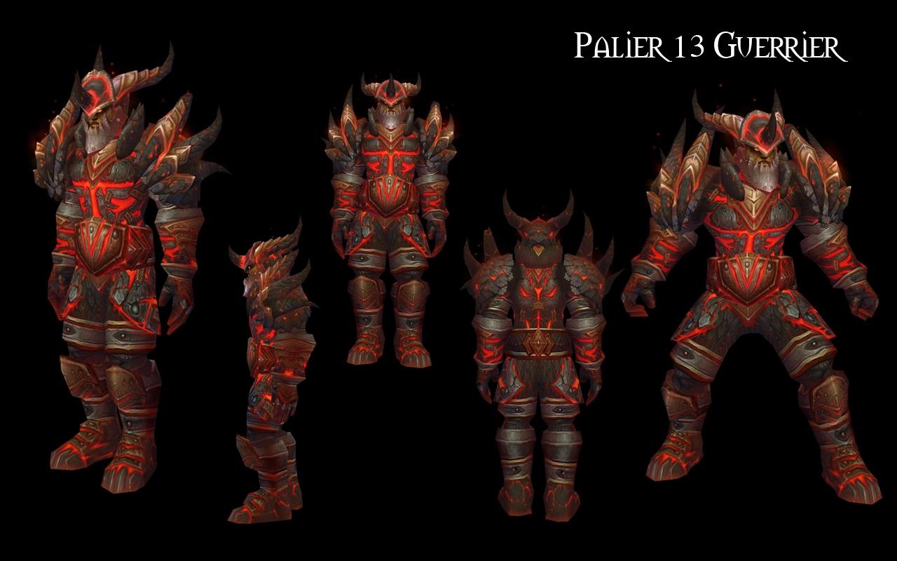 Guerriers – Armure du dragon colossal en plaques
