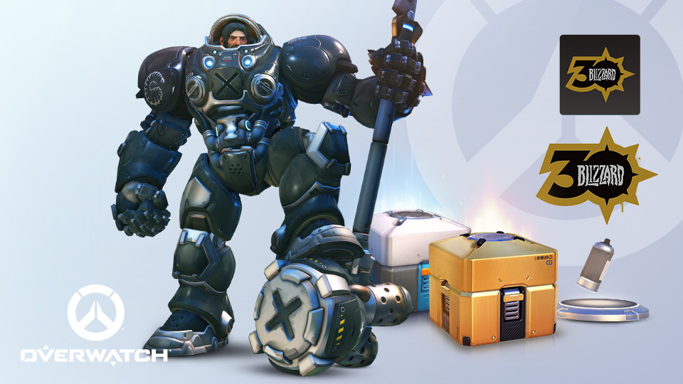 Overwatch items from the Celebration Collection