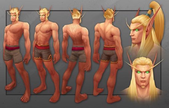 Modelo de los elfos de WoW