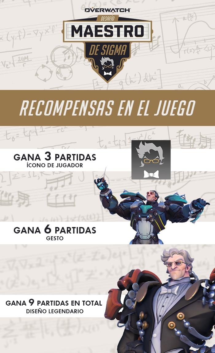Recompensas en el juego del Desafío Maestro de Sigma