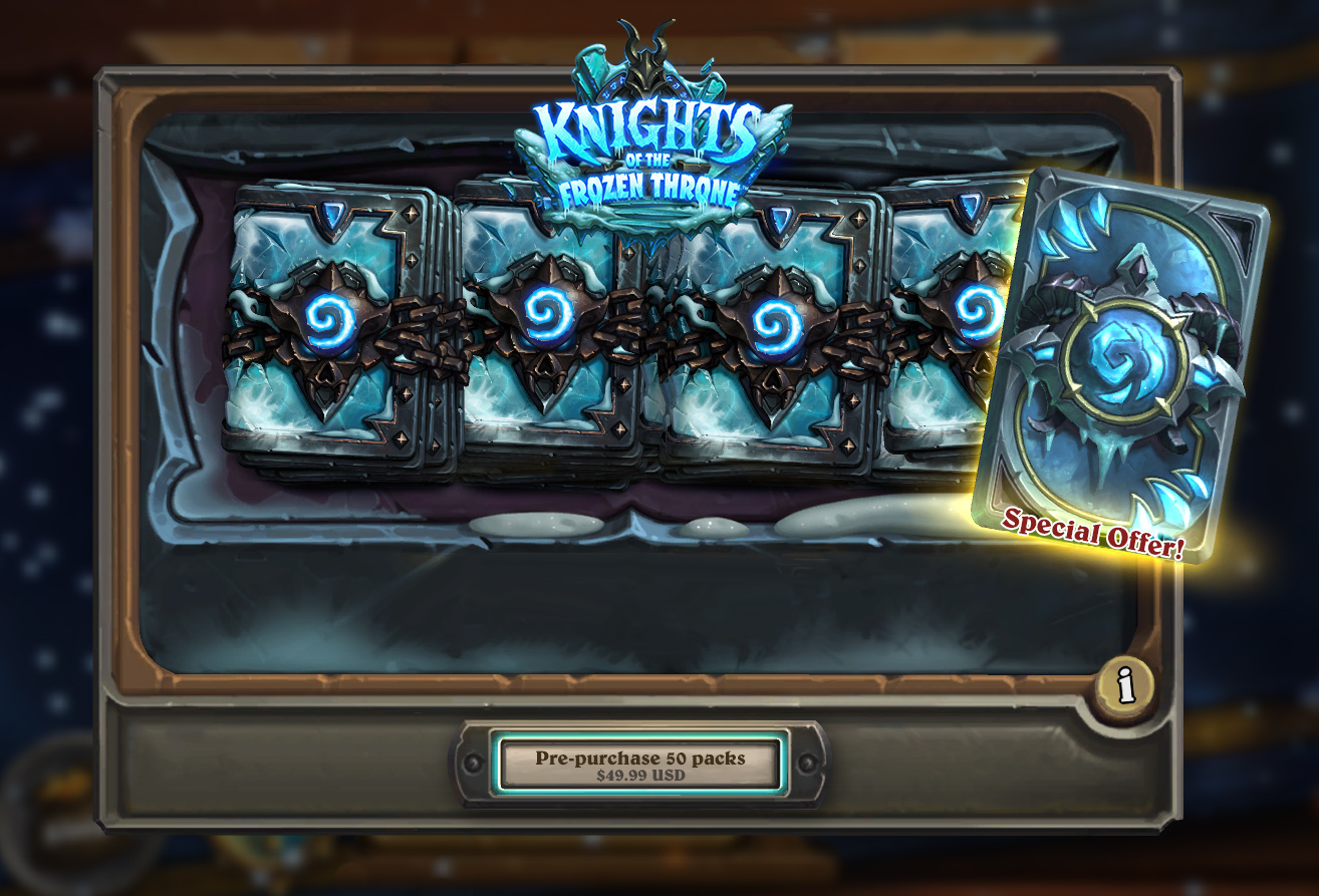 Hearthstone's Knights Of The Frozen Throne Expansion Is Now Live