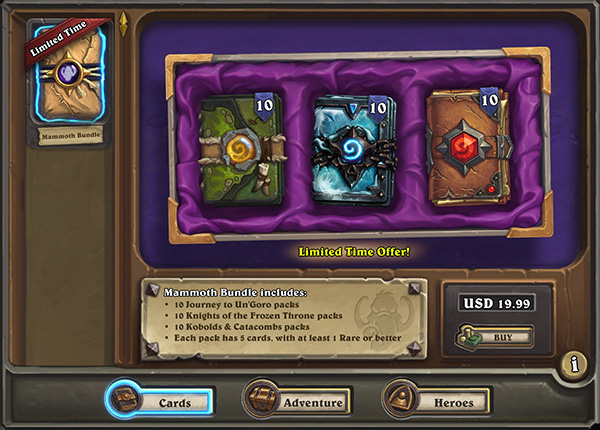Quest for Packs to Win Up to 3000 Card Packs! - Hearthstone