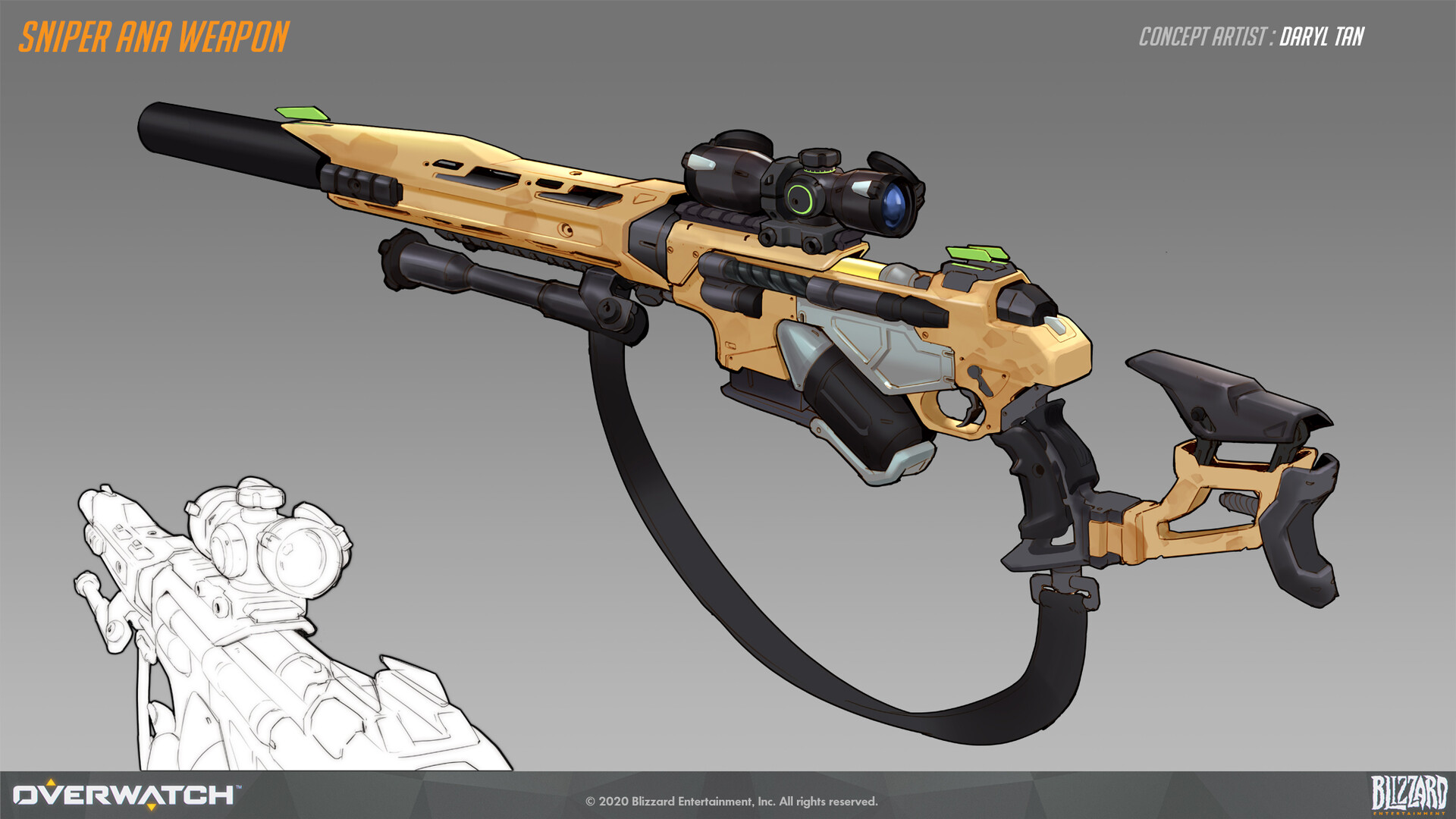 Concept Art - Sniper Ana's Rifle
