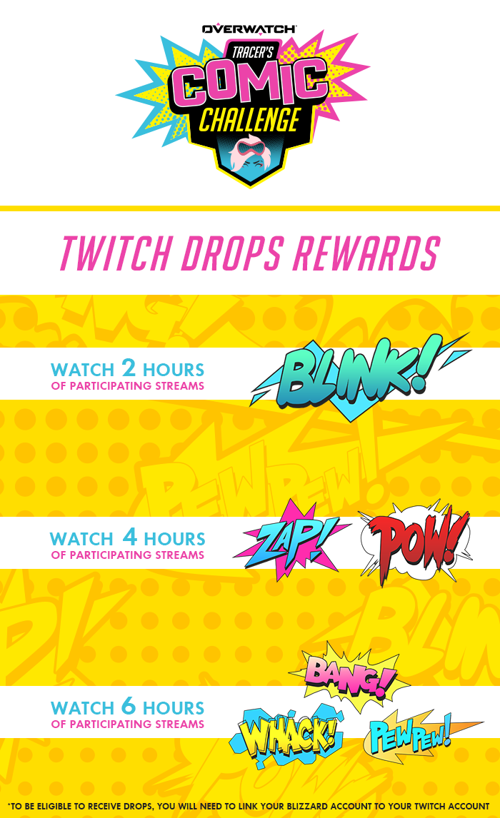 Tracer Comic challenge twitch drops