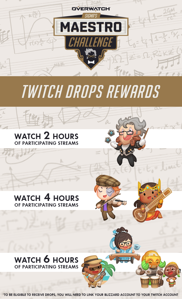 Sigma's Maestro Challenge Twitch Drops Rewards Overview