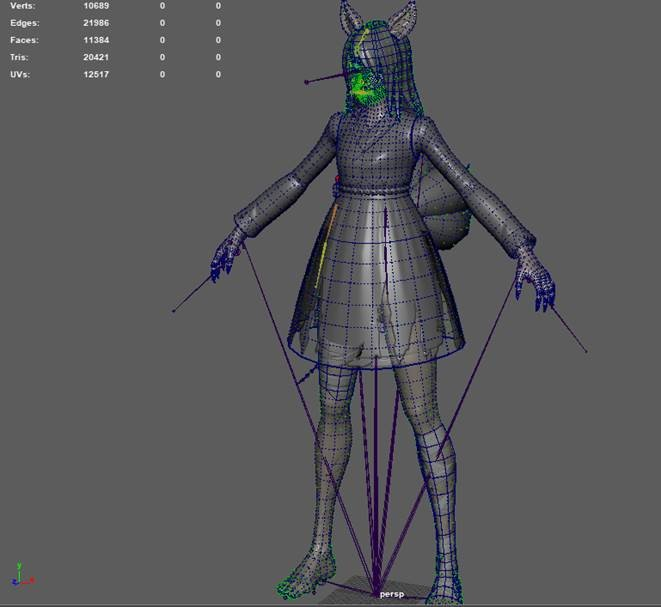 Technical Art - Final Model in Maya