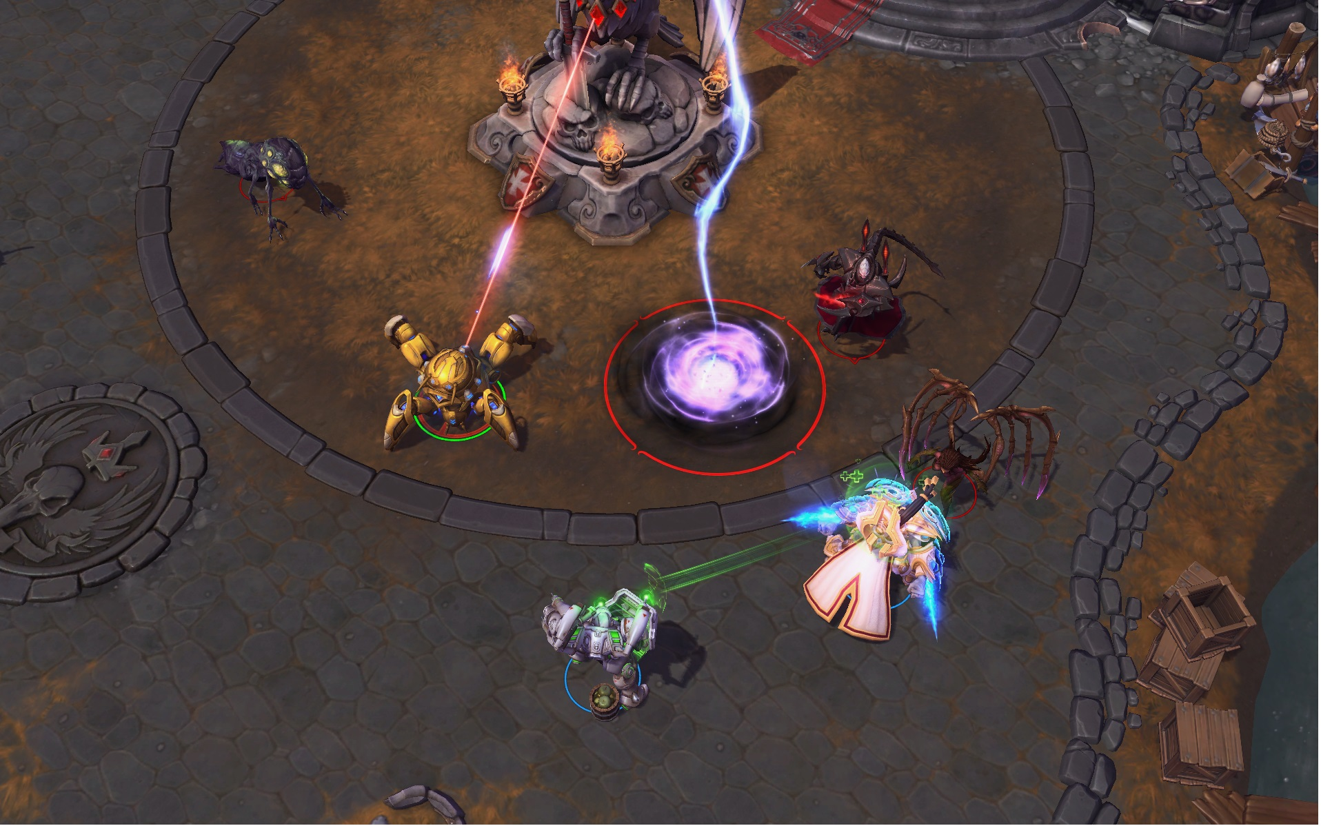 Heroes playing around a brand new Core ability.