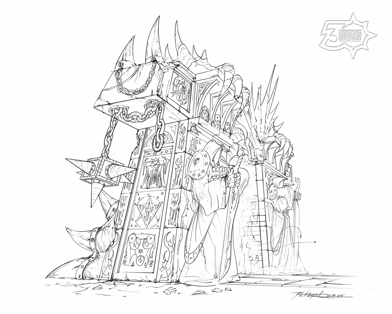 "(1) Burning Crusade Dark Portal Concept Art Print 8"" x 10"", From the Vault - Limited Release.jpg"