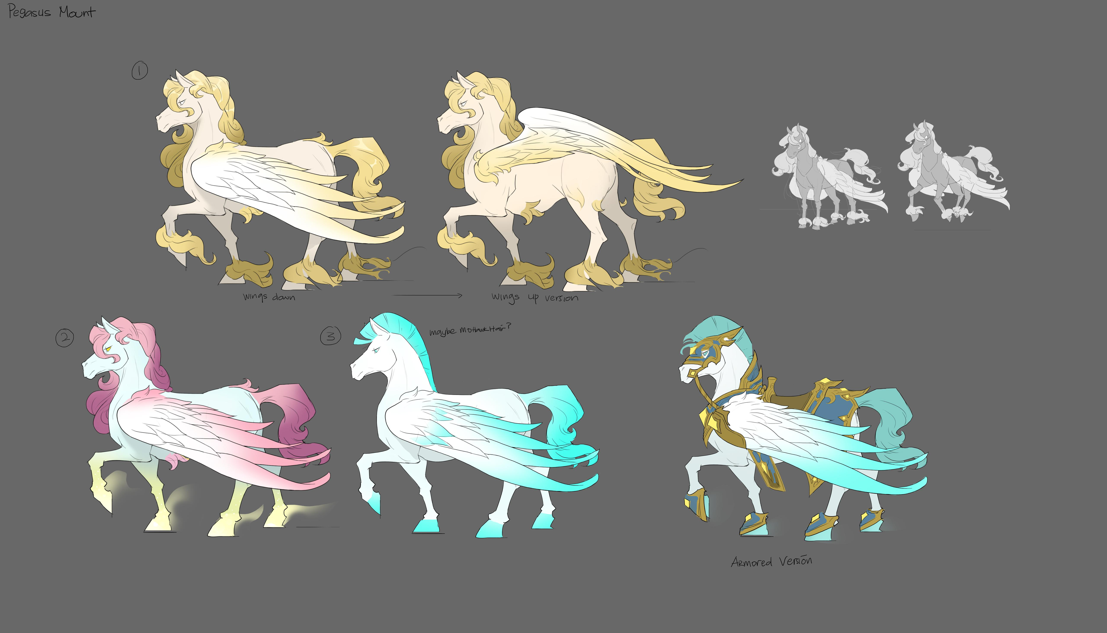 Pegasus mount concept art